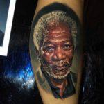 Morgan Freeman Tattoo Portrait