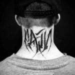 Pain Tattoo on Neck