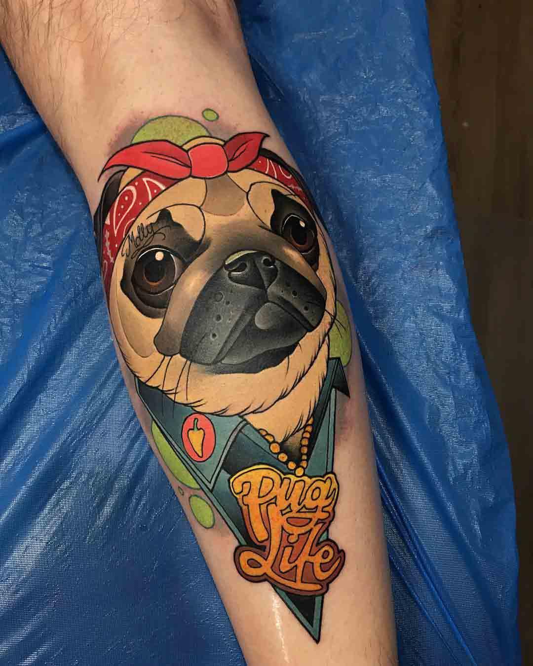 arm tattoo pug