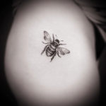 Small Bee Tattoo