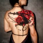 Two Roses Tattoo on Back