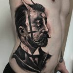 Victorian Demon Guy Tattoo