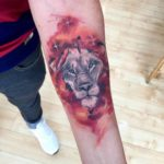 Watercolor Owl Tattoo on Forearm