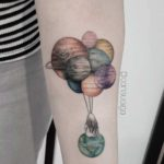 Balloon Planets Tattoo