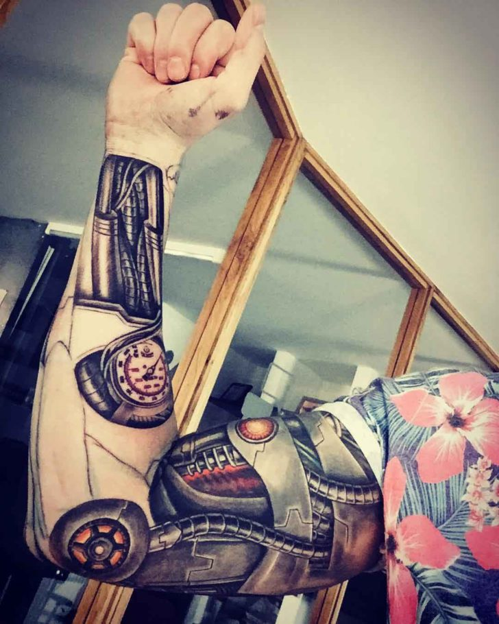 Biomechanic Tattoo Sleeve