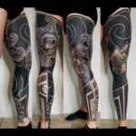 Black Leg Tattoo Sleeve