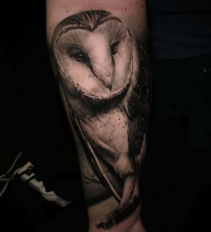 Black and Grey Owl Tattoos