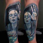 Broken Mirror Tattoo