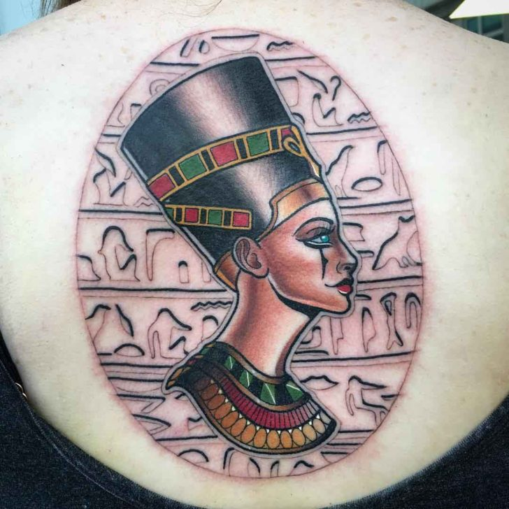 Egypt Background Nefertiti Tattoo