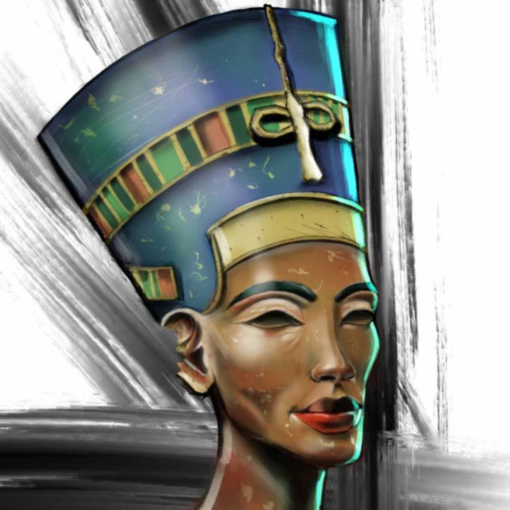 Egyptian Nefertiti Tattoo