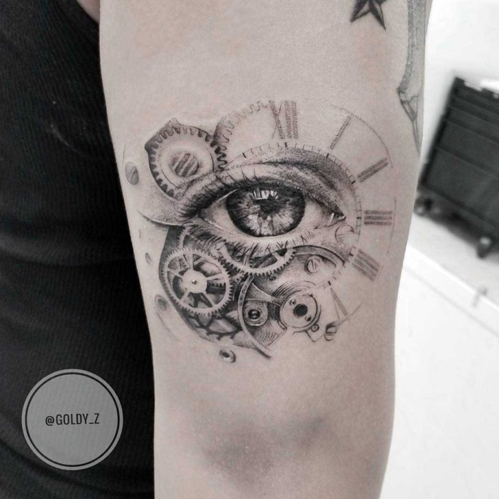 Eye Mechanic Tattoo Clockwork