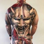 Full Back Tattoo Hannya Mask