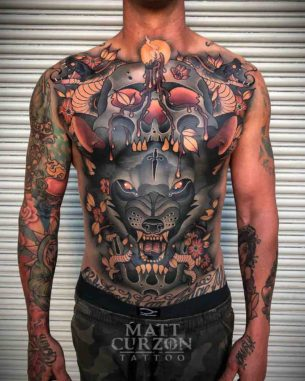 Full Torso Tattoo Neo-Traditional