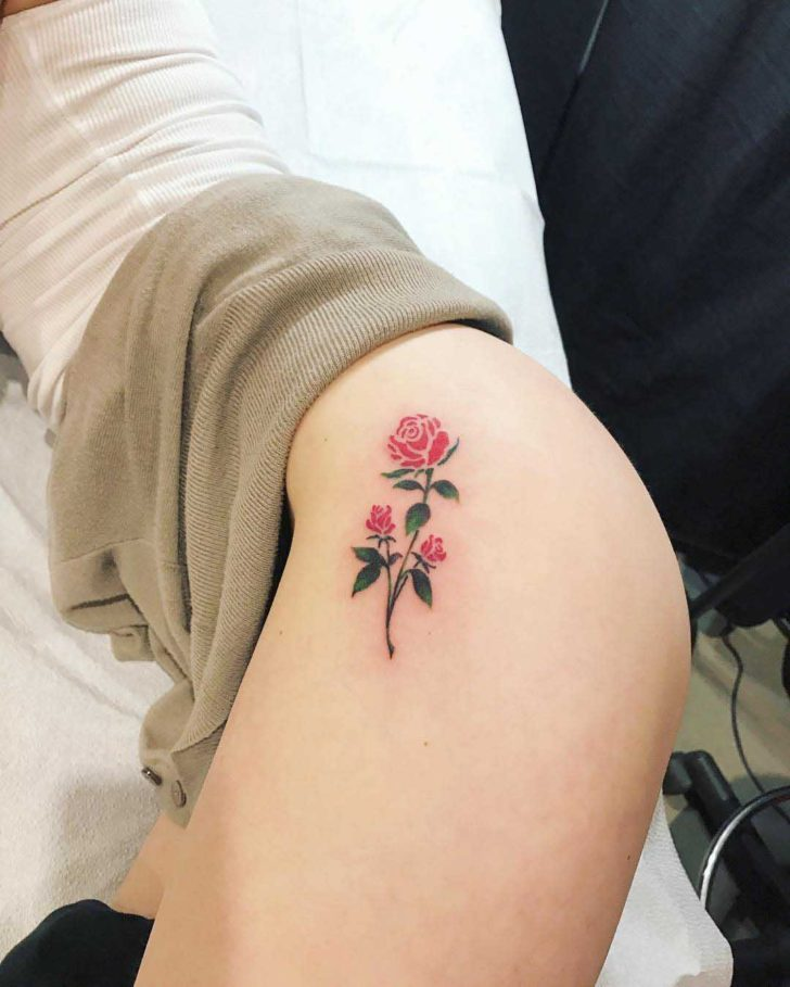Hip Tattoo Small Rose