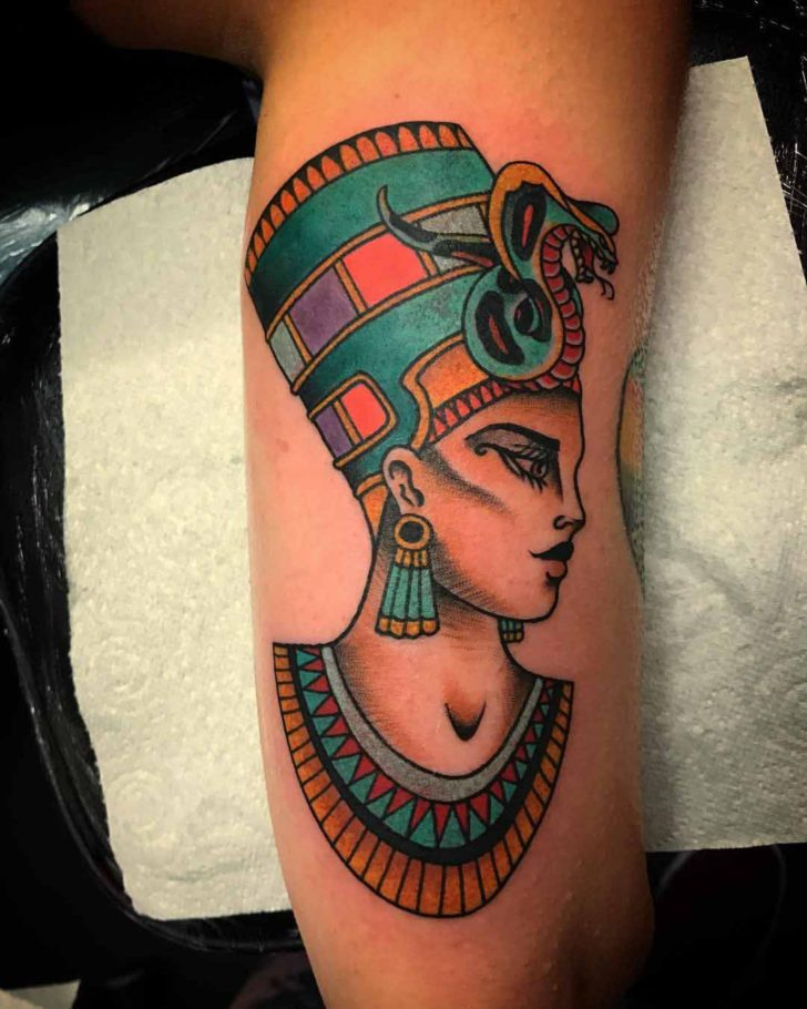 Inner Arm Nefertiti Tattoo