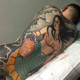 Japanese Mermaid Tattoo