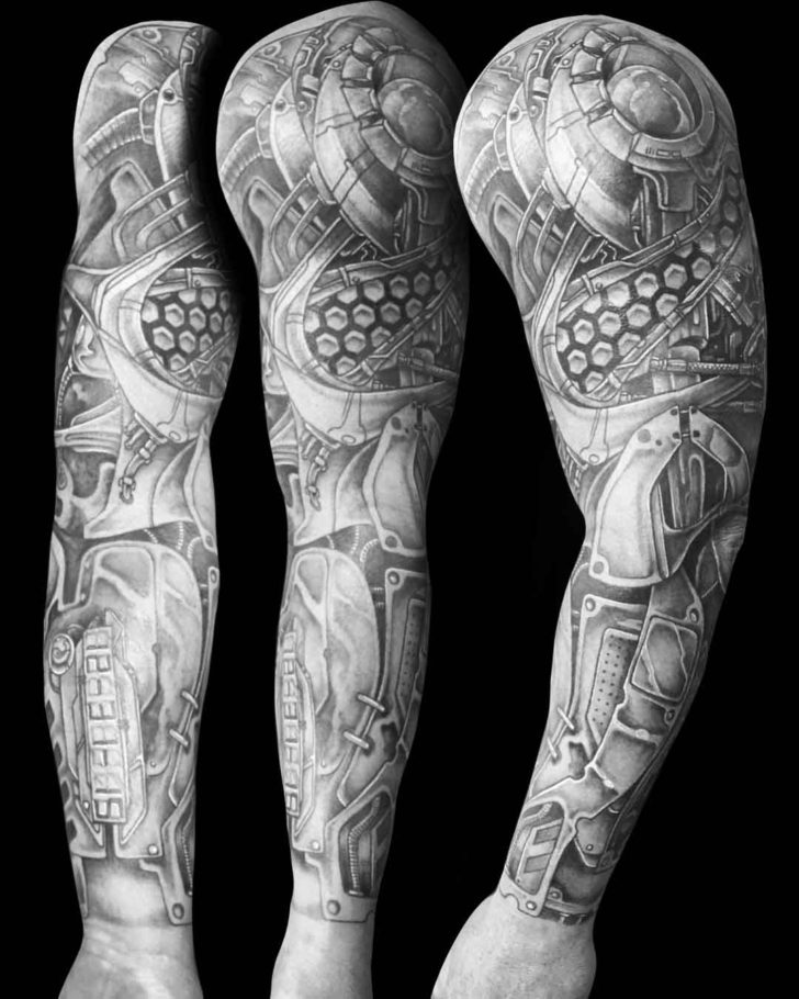 Mechanic Arm Tattoo Sleeve