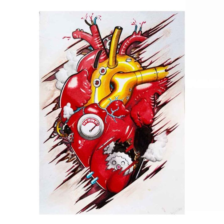 Mechanic Heart Tattoo Design