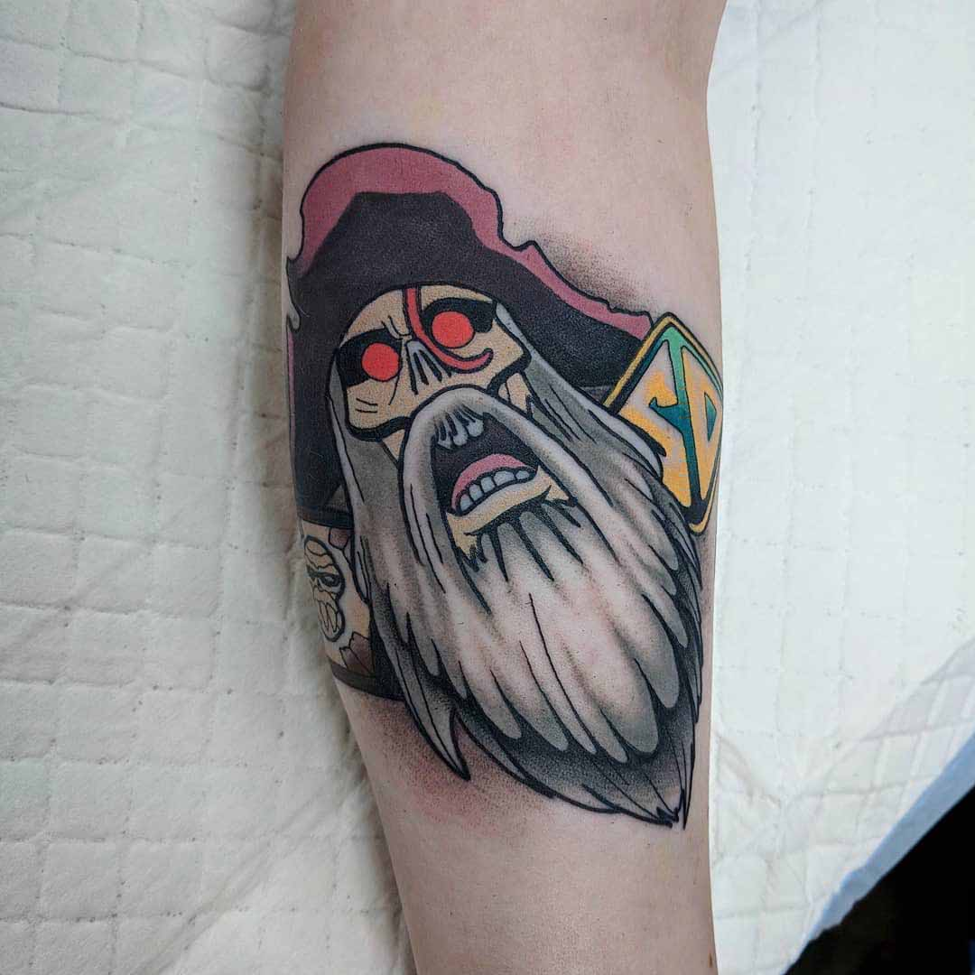arm tattoo scooby-doo pirate