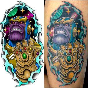 New School Thanos Tattoo