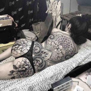 Oriental Back Tattoo Ornament