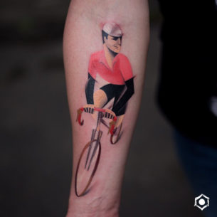 Road Bicycle Racer Tattoo