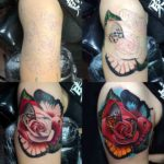 Rose Tattoo in Progress