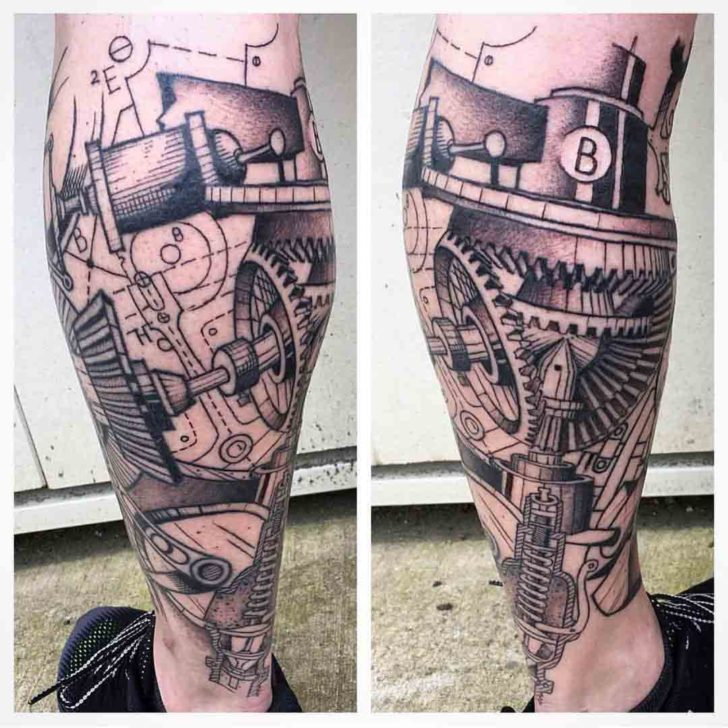 Schematic Mechanic Tattoo