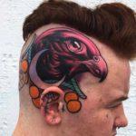 Side of Head Tattoo Eagle