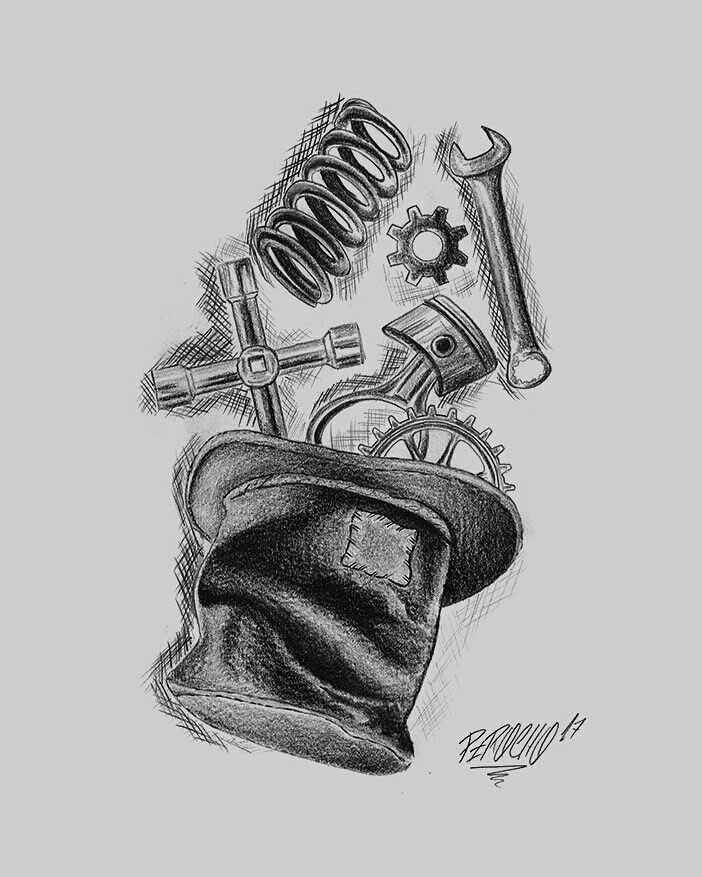 Sketchy Mechanic Tattoo Idea