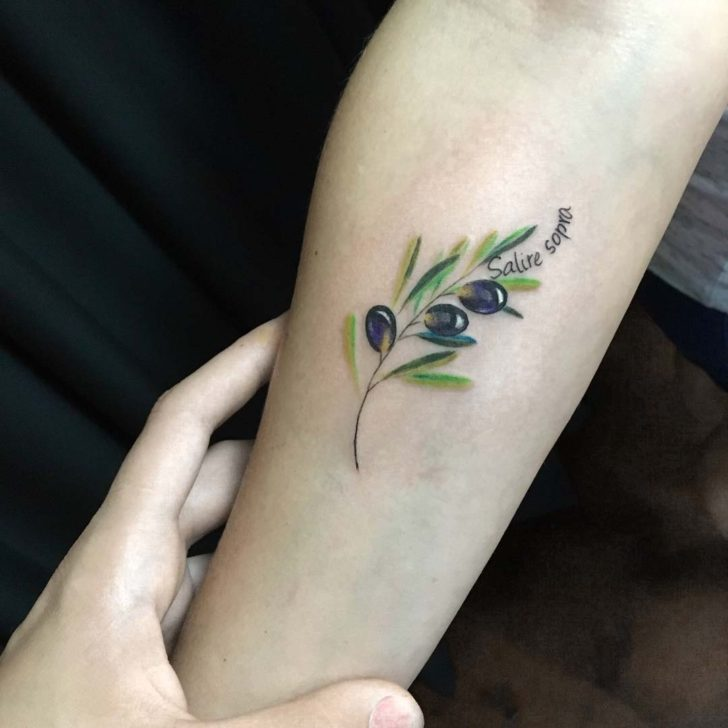 Small Olive Branch Tattoo