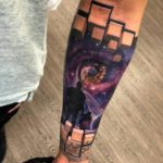 Space 3D Tattoo on Arm