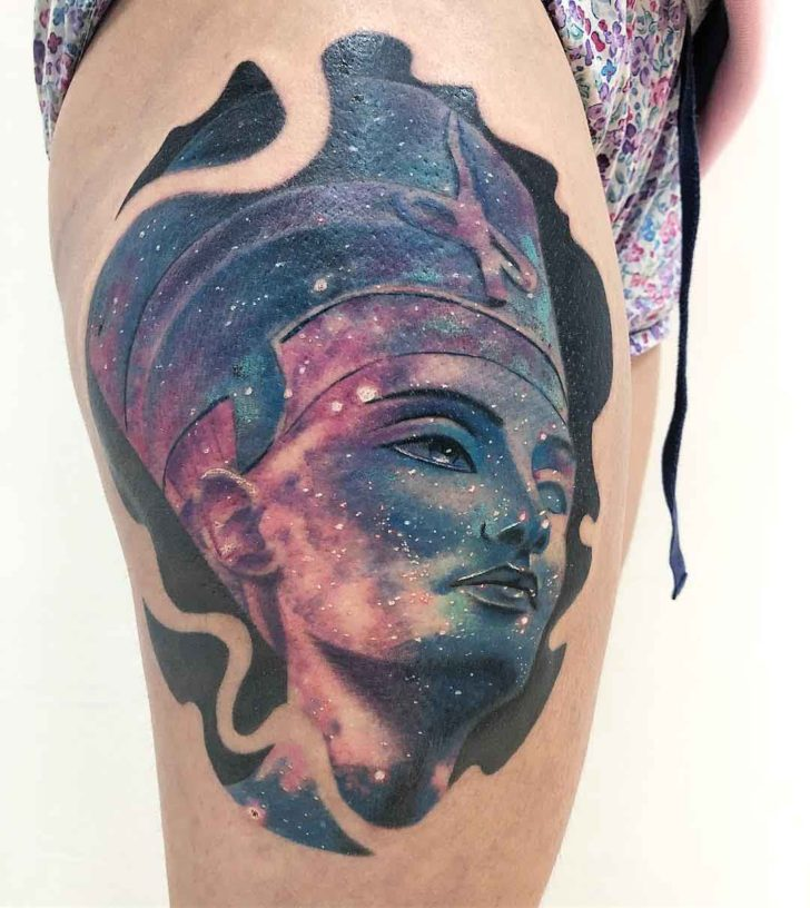 Space Nefertiti Tattoo