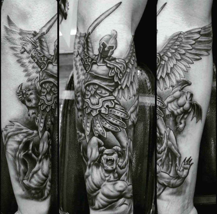 St. Micahel Tattoo wih Sword