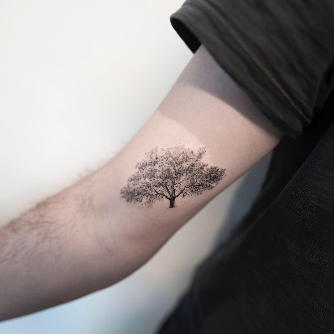 bicep tattoo tree
