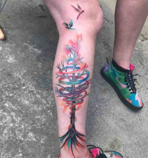 Tree of Rainbow Tattoo