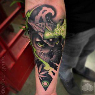 Tripping Owl Tattoo