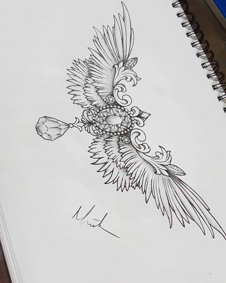 Under Breast Tattoo Design