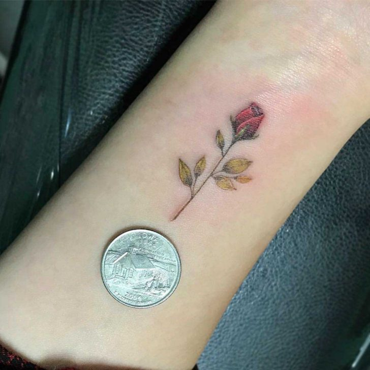 Very Small Rose Tattoo