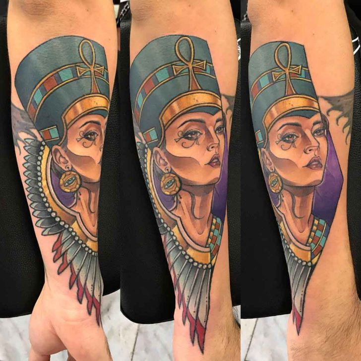 Winged Necklace Nefertiti Tattoo