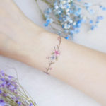Wrist Flower Tattoos