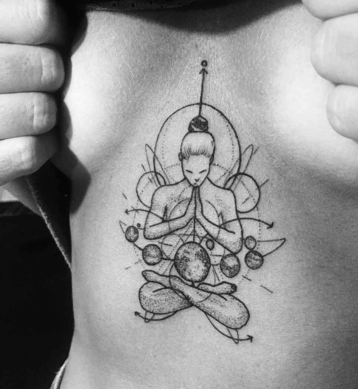 Zen Under Breast Tattoo