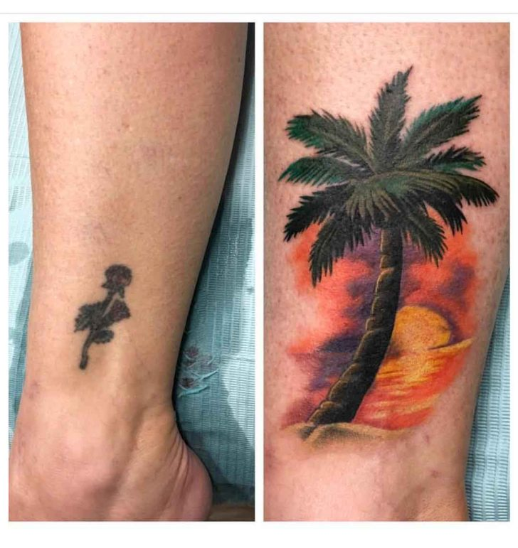 Cover Up Palm Tree Tattoo