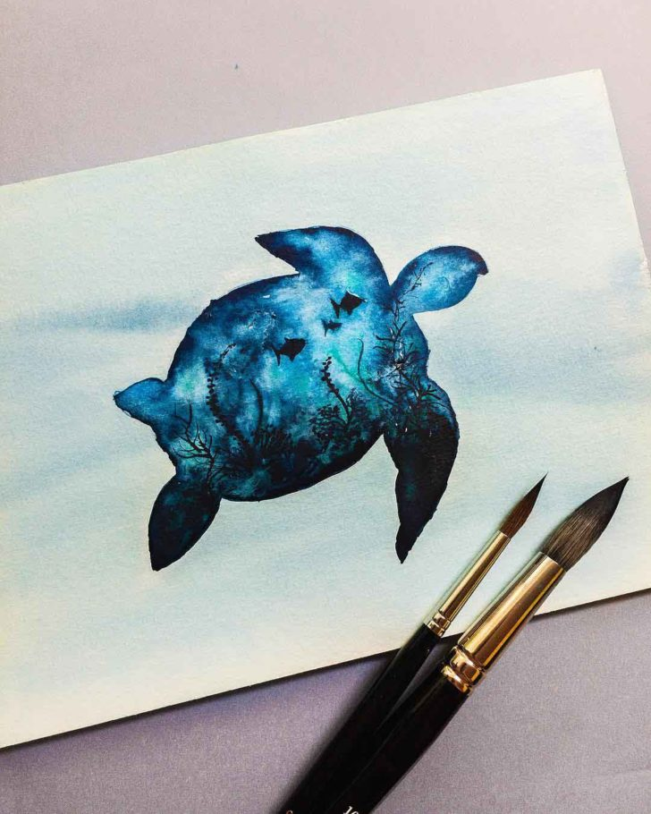 Deep Sea Turtle Tattoo