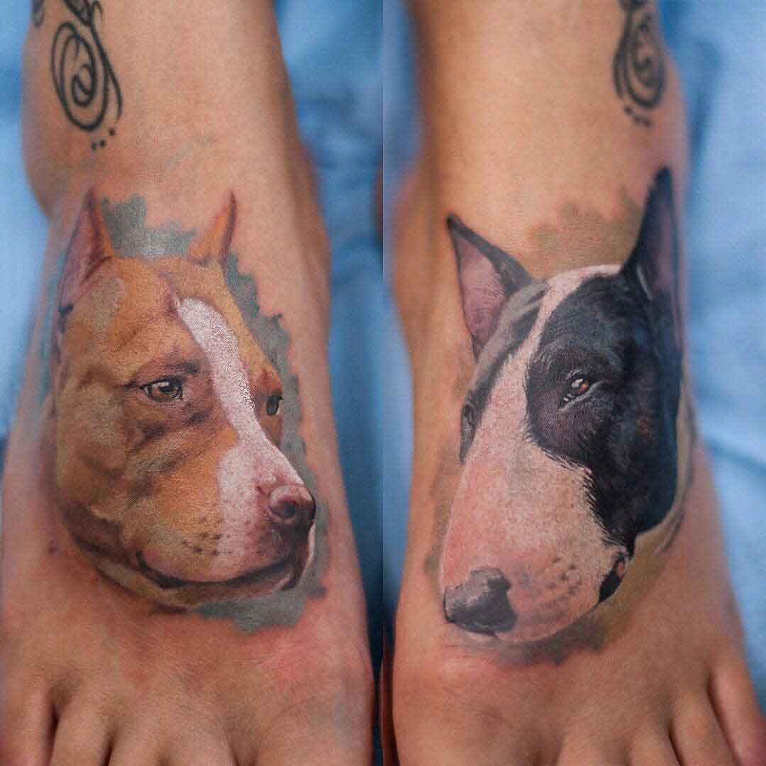 foot tattoos dogs