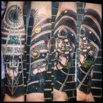 Dotwork Space Tattoo Astronaut