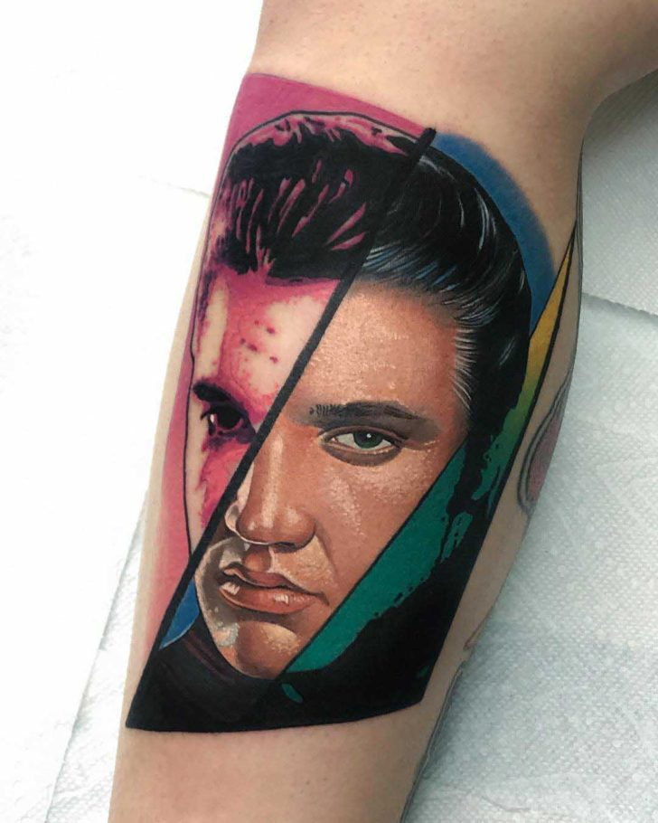 Elvis Prestley tattoo