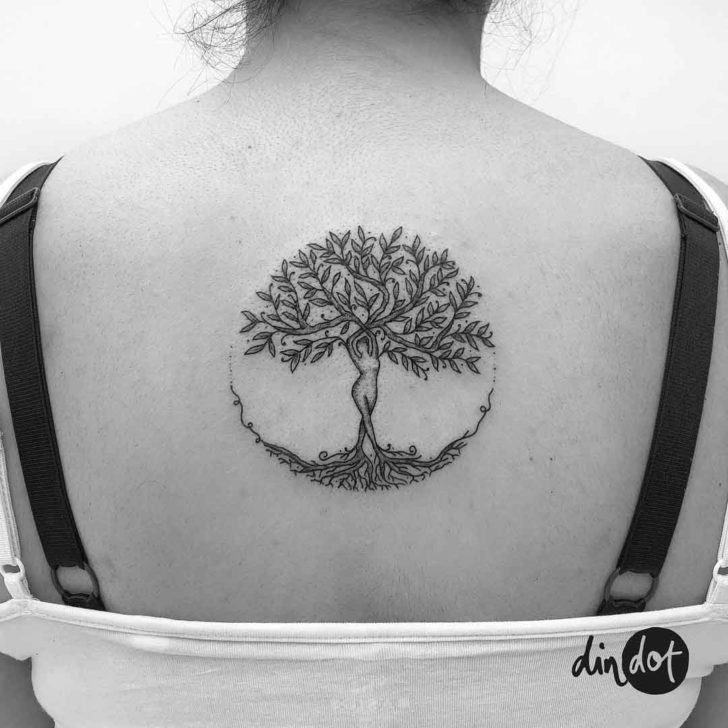 Femenine Tree of Life Tattoo on Back
