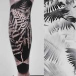 Fern Tattoo on Calf