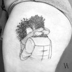 Flower Hug Tattoo